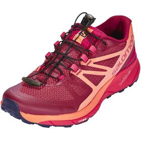 Salomon Sense Ride Running Shoes Women Sangria/Living Coral/Virtual Pink